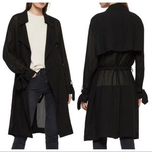 All Saint's Bria Semi-Sheer Trench Coat